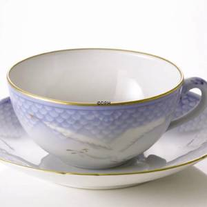 Seagull Service with gold small tea Cup and Saucer, capacity 15 cl, Bing & Grondahl Royal Copenhagen | No. 1303080 | DPH Trading