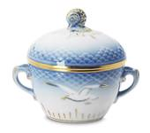 Seagull Service with gold Sugar Bowl, capacity 15 cl., Bing & Grondahl - Ro...