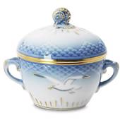 Seagull Service with gold Sugar Bowl, capacity 15 cl., Bing & Grondahl...