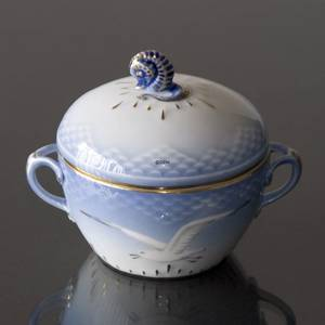 Seagull Service with gold Sugar Bowl, Bing & Grondahl Royal Copenhagen | No. 1303159 | Alt. 3-302 | DPH Trading