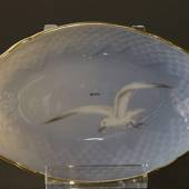 Seagull Service with gold oval dish 18cm, Bing & Grondahl - Royal Copenhage...