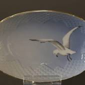 Seagull Service with gold oval dish 22cm, Bing & Grondahl - Royal Copenhage...