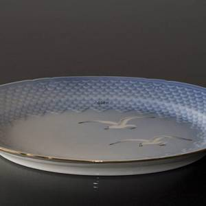 SeagullService with gold serving dish, medium, Bing & Grondahl - Royal Cope...