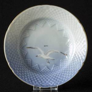 Seagull Service with gold, cake plate 14cm, Bing & Grondahl Royal Copenhagen | No. 1303614 | Alt. 3-29 | DPH Trading