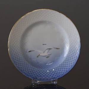 Seagull Service with gold, plate, 21cm, Bing & Grondahl - Royal Copenhagen