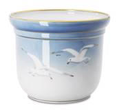 Seagull Service with gold, flower pot, medium