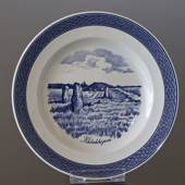 Royal Copenhagen Tranquebar, blue, plate with motif from Klebækhøjene