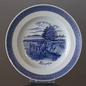 Royal Copenhagen Tranquebar, blue, plate with motif from Halvvejshøjen