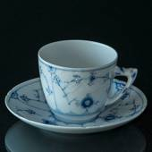 Blue fluted tableware coffee cup and saucer Bing & Grondahl
