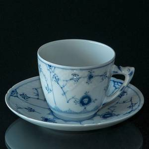 Blue fluted tableware coffee cup and saucer Bing & Grondahl | No. 1415071 | Alt. 4815-102 | DPH Trading