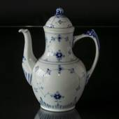 Blue traditional Coffee Pot, Blue Fluted Bing & Grondahl