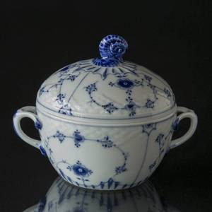 Blue traditional sugar bowl, Blue Fluted Bing & Grondahl