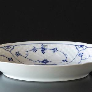 Blue traditional Oval Dish 23 cm, small, Blue Fluted Bing & Grondahl | No. 1415314 | Alt. 4815-39 | DPH Trading