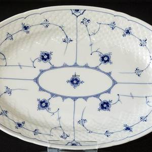 Blue traditional Oval Dish 34 cm Full Lace, Blue Fluted Bing & Grondahl