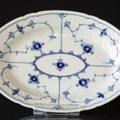 Blue traditional Oval Dish 25.5 cm, Blue Fluted Bing & Grondahl