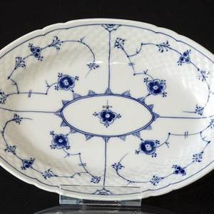 Blue traditional Oval Dish 24 cm, Blue Fluted Bing & Grondahl