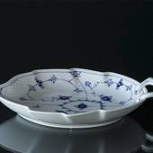 Blue Traditional tableware leaf-shaped pickle dish, large 25cm