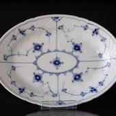 Blue traditional Oval Dish 28 cm, Blue Fluted Bing & Grondahl