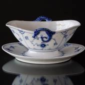 Blue traditional Sauce Boat, Blue Fluted Bing & Grondahl