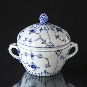 Blue traditional sugar bowl, small, 10cm, Blue Fluted Bing & Grondahl | No. 1415593 | Alt. 4815-94A | DPH Trading
