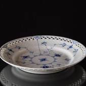 Blue traditional flat plate 21 cm full lace, Bing & Grondahl