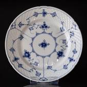 Blue traditional flat plate 21 cm, Blue Fluted Bing & Grondahl
