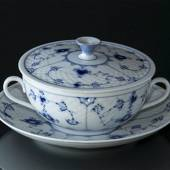 Blue traditional Soup Cup with Saucer, Blue Fluted Bing & Grondahl
