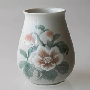 Vase Christmas rose Service light colours 13cm Bing & Grondahl