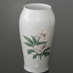 Vase Christmas rose Service light colours Bing & Grondahl | No. 1435682-1 | Alt. b682 | DPH Trading