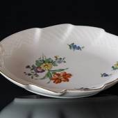 Bing & Grondahl Saxon Flower large leafshaped pickle dish