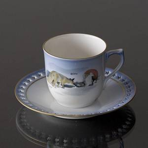 Wiberg Christmas Service, cup and saucer, pixie and fox, Bing & Grondahl | No. 1501071 | Alt. 3501-305 | DPH Trading