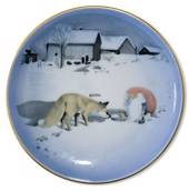 Wiberg Christmas Service, plaquette / Butter plate no. 1, pixie and fox