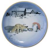 Wiberg Christmas Service, plaquette / Butter plate no. 1, pixie and fox, Bi...