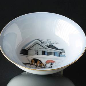 Wiberg Christmas Service, bowl with pixie and dog | No. 1502574 | Alt. 3502-574 | DPH Trading