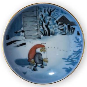 Wiberg Christmas Service, plaquette / Butter plate no. 5, pixie and cat