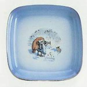 Wiberg Christmas Service, square cake dish with pixie and mouse | No. 1507422 | Alt. 3507-304 | DPH Trading