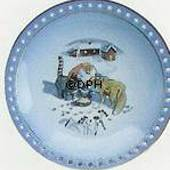 Wiberg Christmas Service, plate with pixie, cat and fox