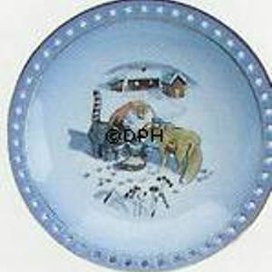 Wiberg Christmas Service, plate with pixie, cat and fox | No. 1509621 | Alt. 3509-326 | DPH Trading