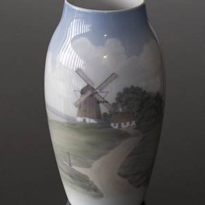 Vase with Mill Scenery, Royal Copenhagen