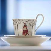 2007 Royal Copenhagen Christmas Cup w/side plate, set