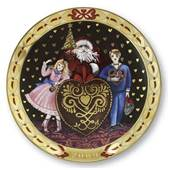 Royal Copenhagen, hearts of Christmas series plate 2009, Hearts of Honey fo...