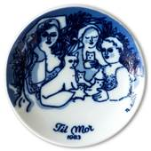 Porsgrund Mother's Day Plate 1983