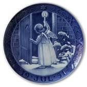 Decorative plates - Christmas plate 1951 Royal Copenhagen
