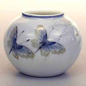 Vase with Butterfly, Royal Copenhagen