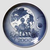 2000 Royal Copenhagen Millennium Plate Children, Earth and Moon