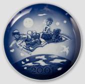 2001 Royal Copenhagen Millenium plate, Children on flying carpet