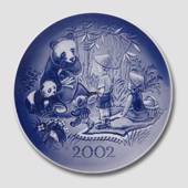 2002 Royal Copenhagen Millennium plate, Children and pandas
