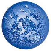 2003 Royal Copenhagen Millennium plate, Children diving with Turtle