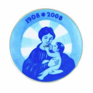 2008 Centennial plate, Royal Copenhagen, Madonna and child | Year 2008 | No. 1914108 | DPH Trading