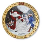 Royal Copenhagen, hearts of Christmas series plate 2006, Hearts of sno...